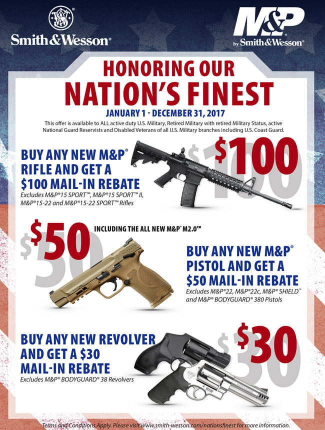 Image result for smith and wesson honoring our nation's rebate